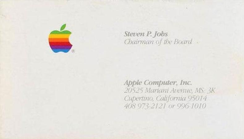 steve jobs kartvizit 1