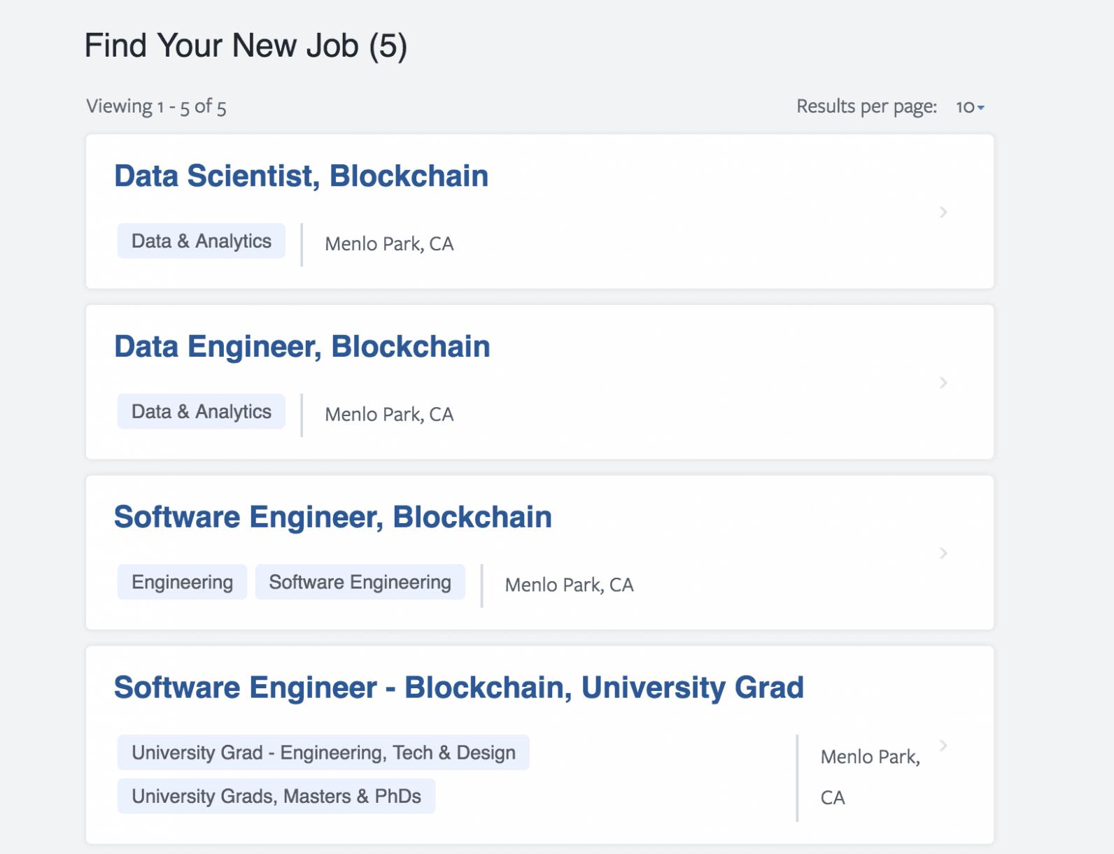 Facebook blockchain ekibi