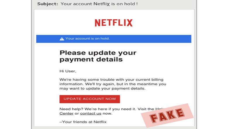 Dolandırıcılar Netflix Sahte E Posta 3