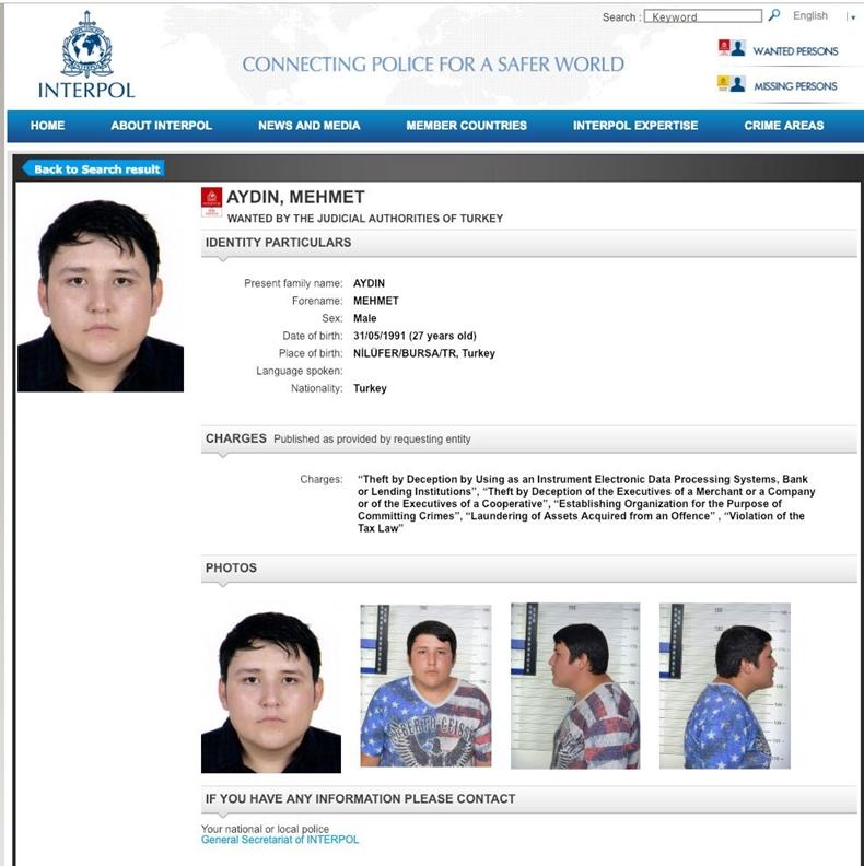 Interpol Mehmet Aydın