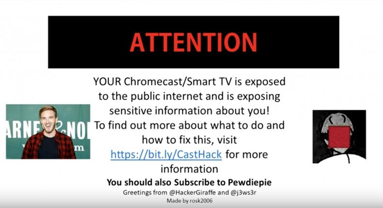 pewdiepie chromecast hack