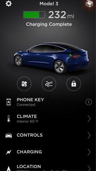 Tesla Mobil Uygulaması 2