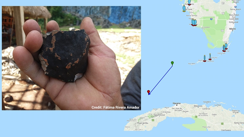 küba meteor düştü