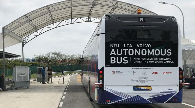 Volvo Otonom Otobüs Testi 2