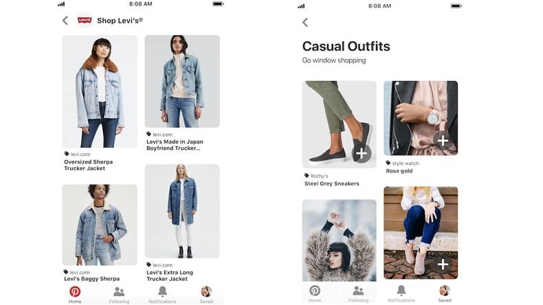 Pinterest alışveriş özellikeri