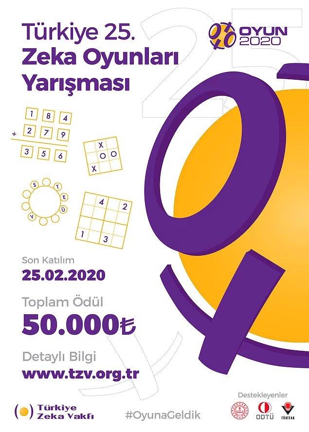 50 Bin Lira Ödüllü Türkiye Zeka Yarışması Başladı
