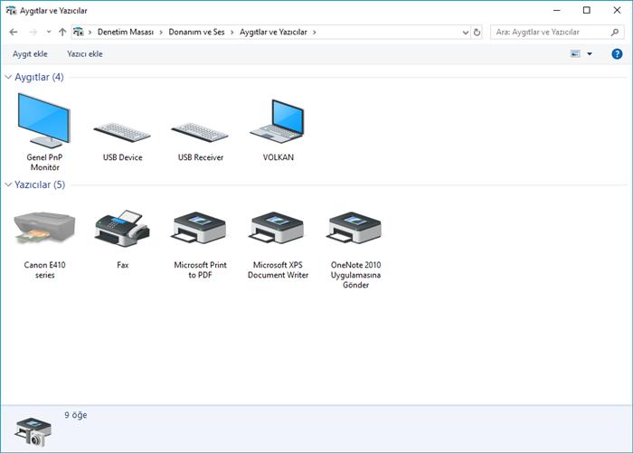 Windows 10 aygıtlar