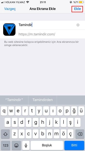 iphone web site düzenle