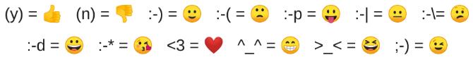 whatsapp emoji kısayolları
