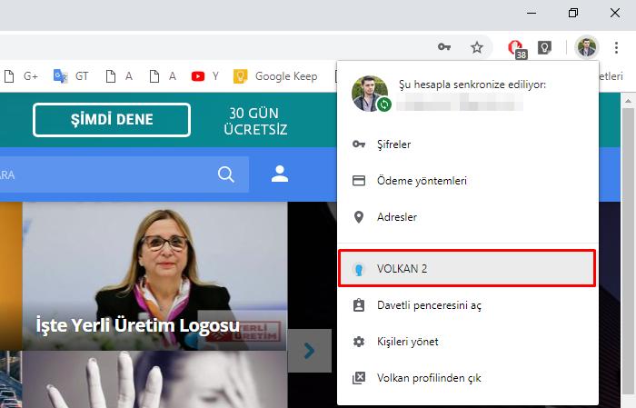 Chrome profiller arası geçiş