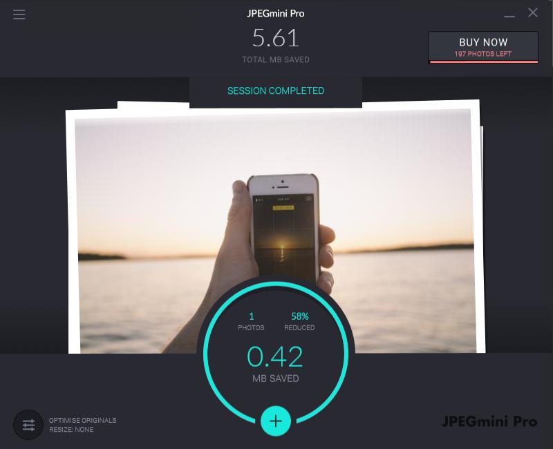 JPEGmini programı ile fotoğraf boyutu azaltma