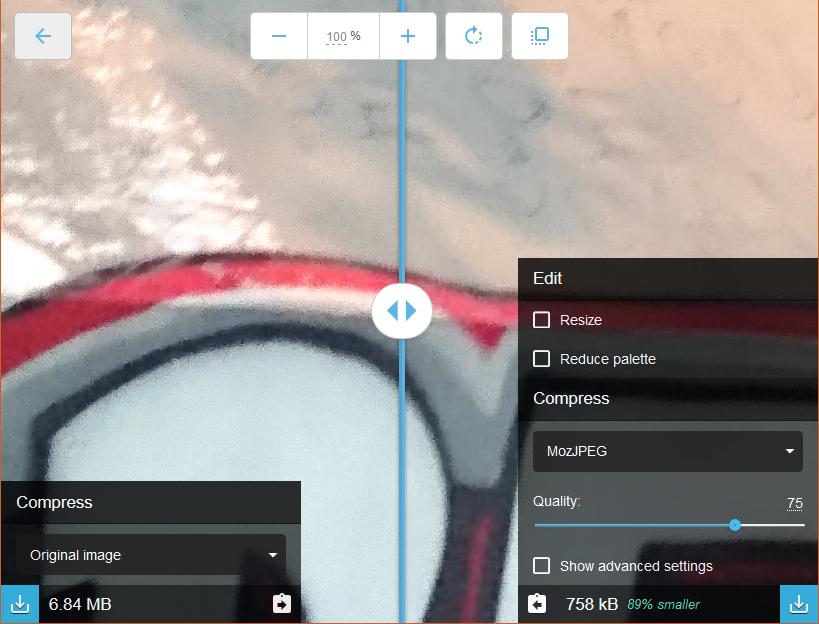Sqoosh APP ile programsız fotoğraf küçültme