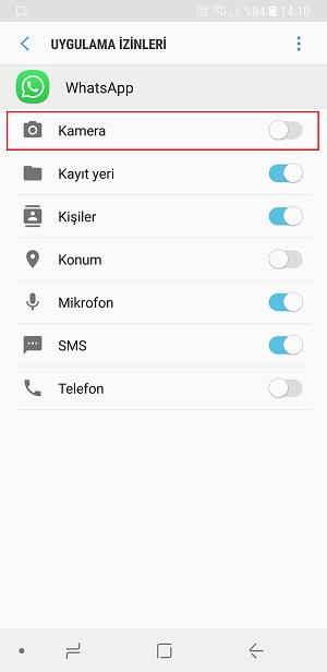 Whatsapp görüntülü konuşma kapatma