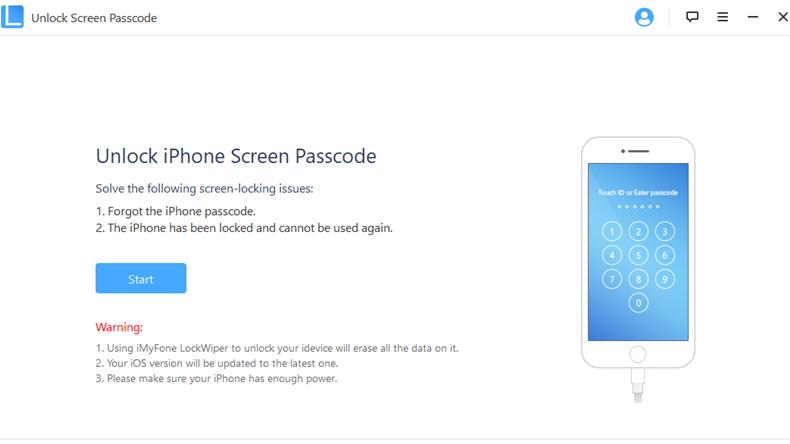 Unlock Screen passcode 1