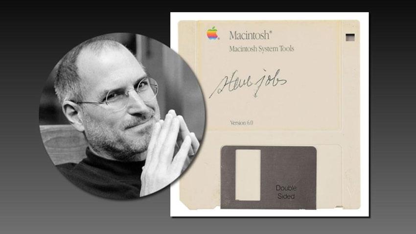 Steve Jobs İmzalı Disket 1