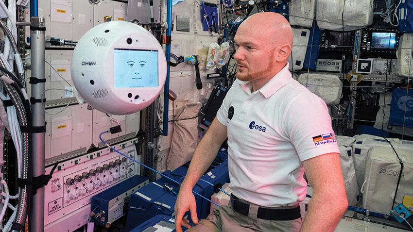 Refakatçi Astronot Robotu Cimon2