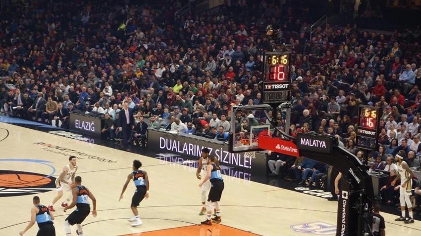 NBA Maçında Elazığ ve Malatya için Destek Mesajları Verildi
