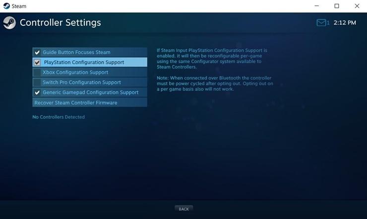 Steam Kontrol Paneli