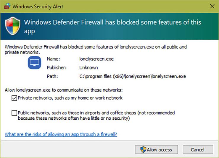 Windows Güvenlik Uyarı Sistemi