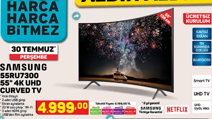 Samsung 55RU7300 55 UHD Curved TV