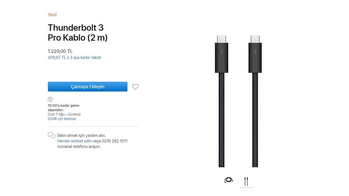 Apple Tunderbolt 3 Pro Fiyatı -1