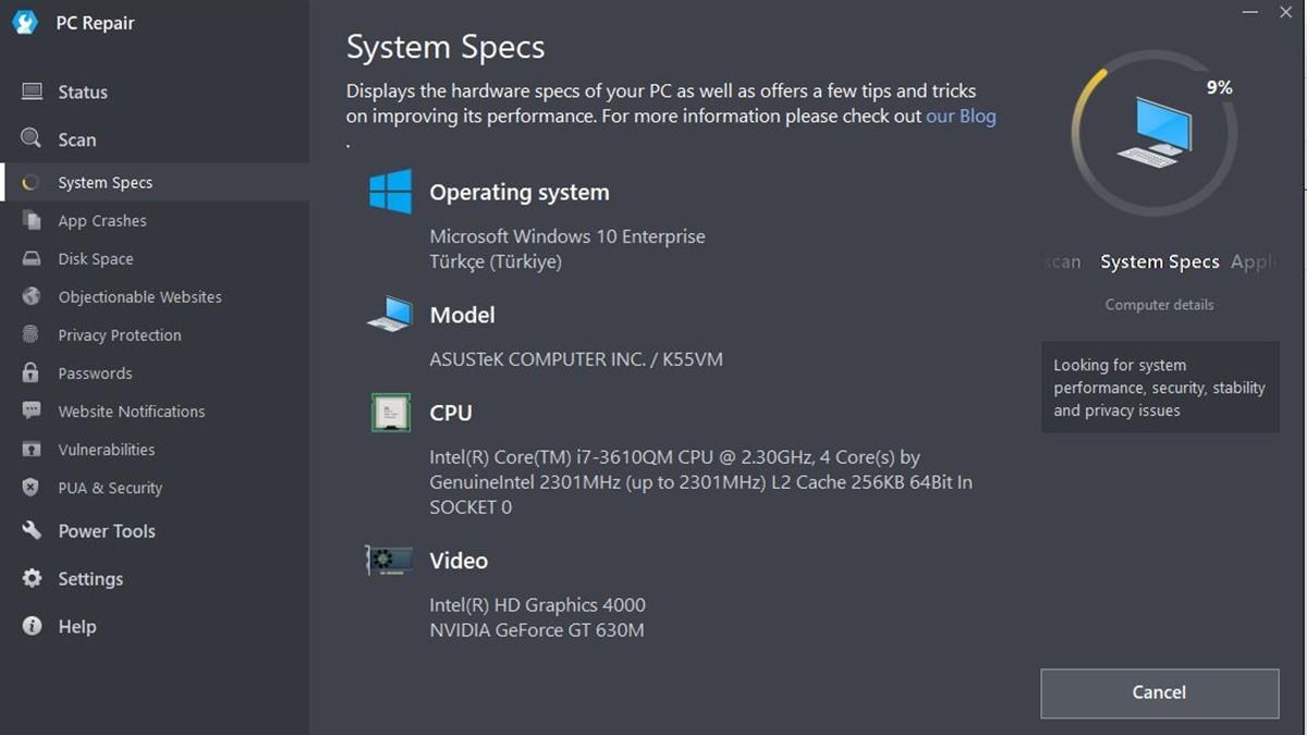 Outbyte PC Repair: Windows Hata Onarım Aracı -1