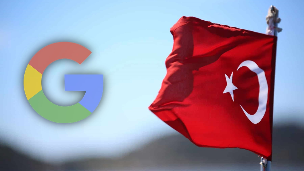Türkiye'nin Google Cezası Google Logosu ve Türk Bayrağı Google and Turkish Flag
