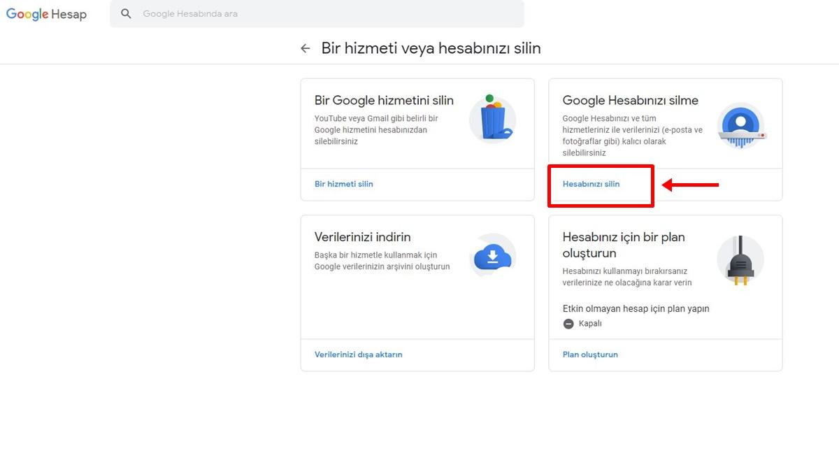 Google Hesabı Nasıl Silinir? -3