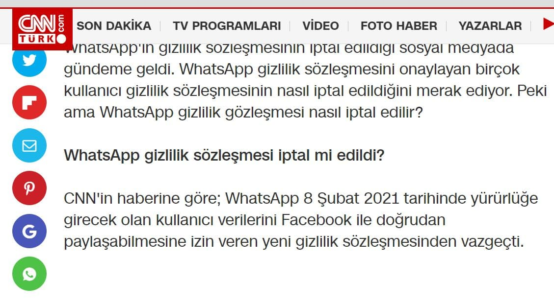 whatsapp geri döndü iddiası