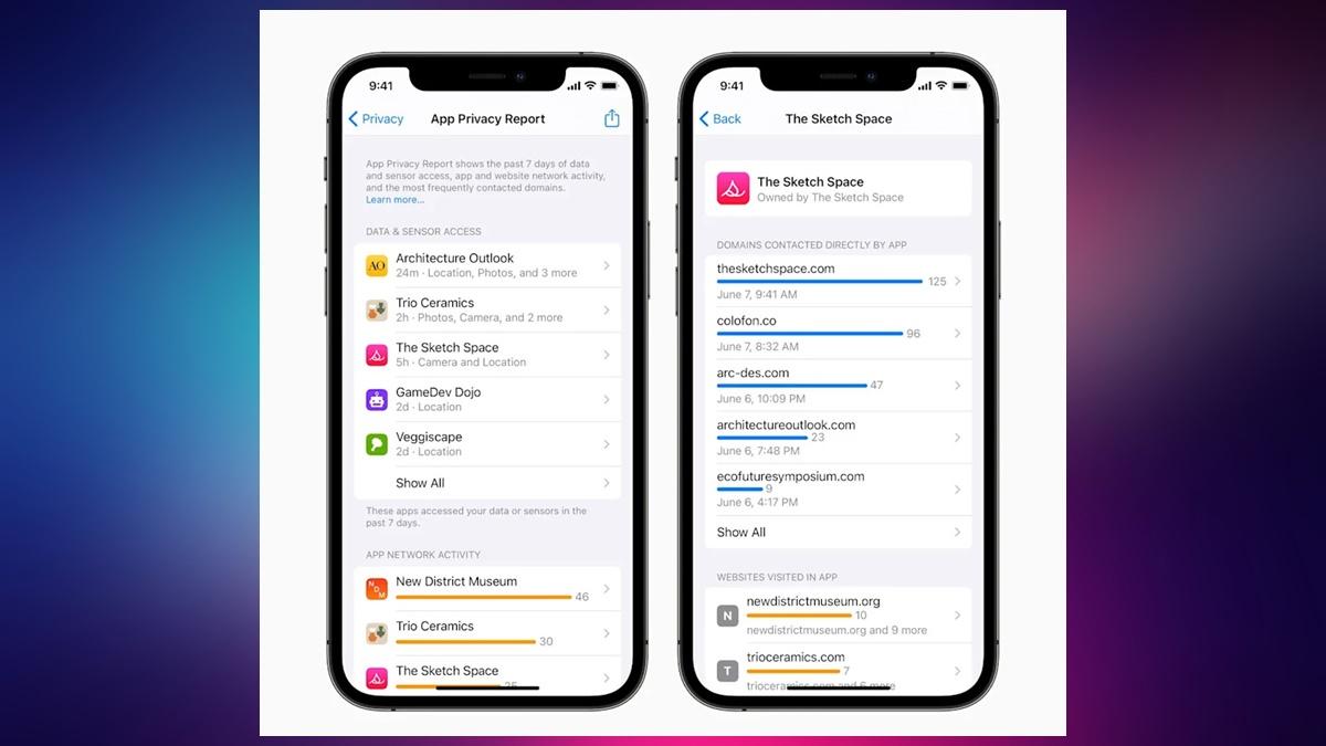 iOS 15 Uygulama Gizliliği