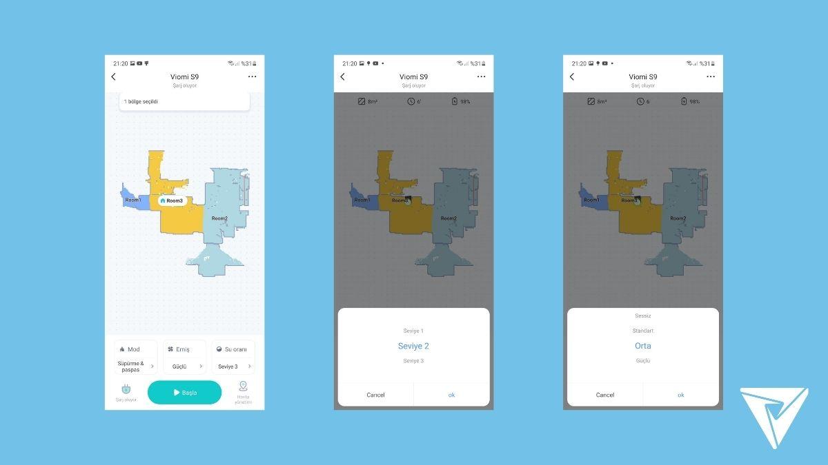 Viomi Alpha (S9) İncelemesi Mobil Uygulama -2