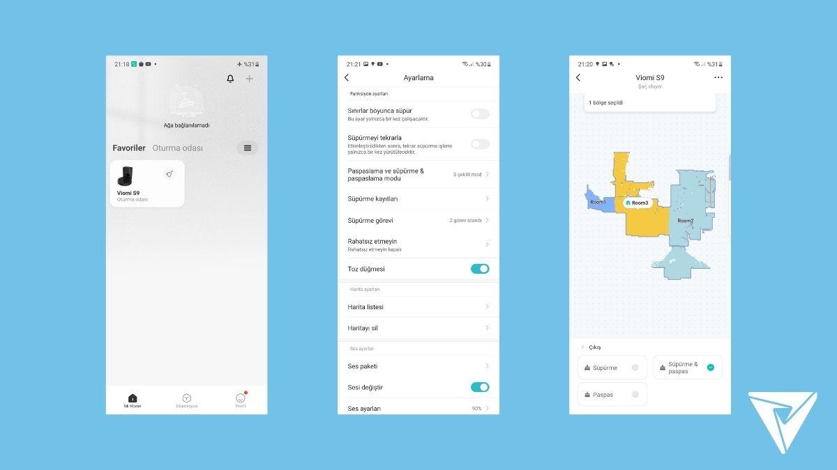 Viomi Alpha (S9) İncelemesi Mobil Uygulama