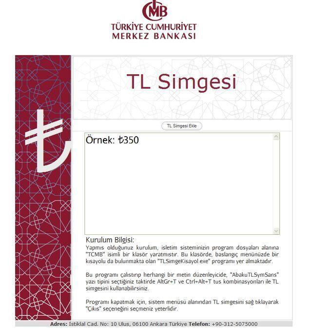 TL Ekleme Örnek Sayfası