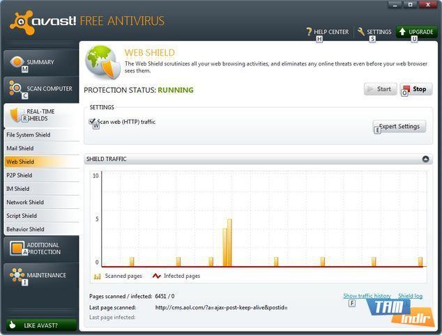 Avast 6 Beta Web Shield