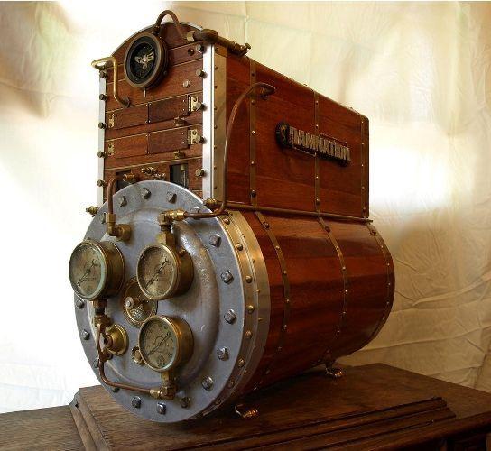 Steampunk atmosferi bilgisayar kasalarını da sarmış.