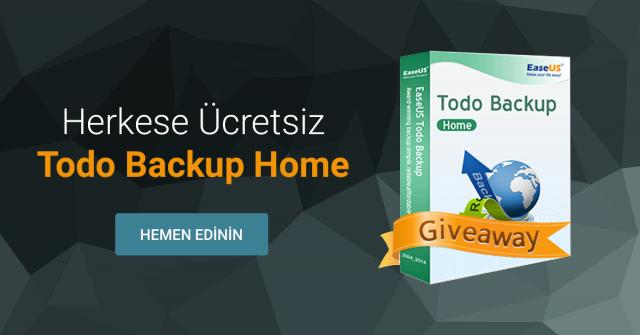 Herkese Ücretsiz 'EaseUS Todo Backup Home' Kampanyası