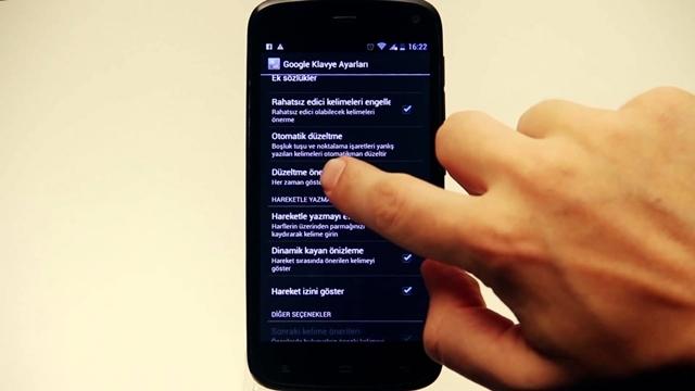 Android'de Otomatik Metin Düzeltme Nasıl Kapatılır?