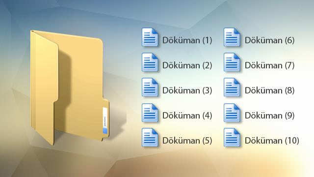 Windows'ta Toplu Dosya İsmi Nasıl Değiştirilir?