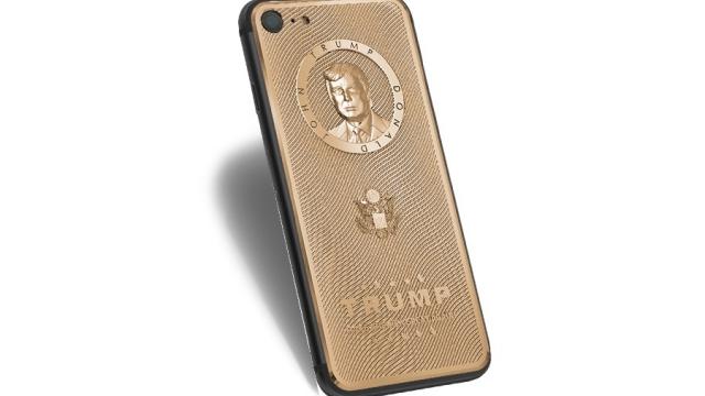 Donald Trump'a Özel Altın Kaplama iPhone 7 Rekor Fiyatla Satışta
