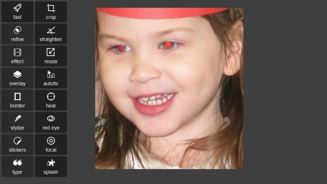 Pixlr ile Kırmızı Göz Düzeltme