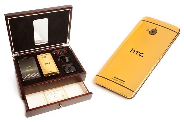 24 Karat HTC One Satışta