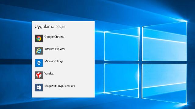 Windows 10'da Varsayılan İnternet Tarayıcı Nasıl Değiştirilir?