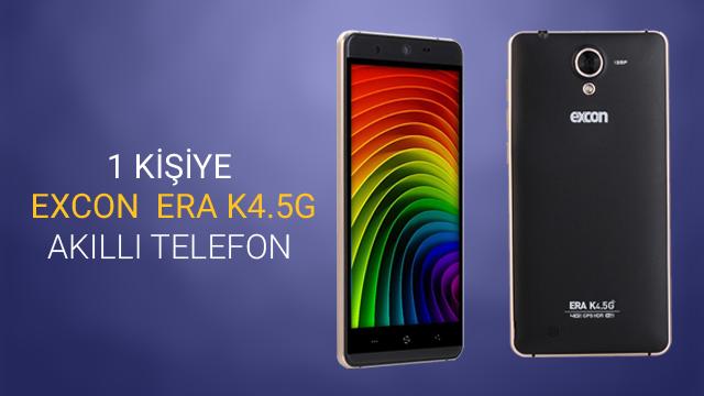 1 Şanslı Takipçimize Excon Era K4.5G Akıllı Telefon Hediye Ediyoruz! - Güncelleme: Kazanan Açıklandı!