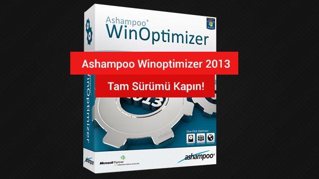 Ashampoo WinOptimizer 2013 Tam Sürüm Herkese Hediye