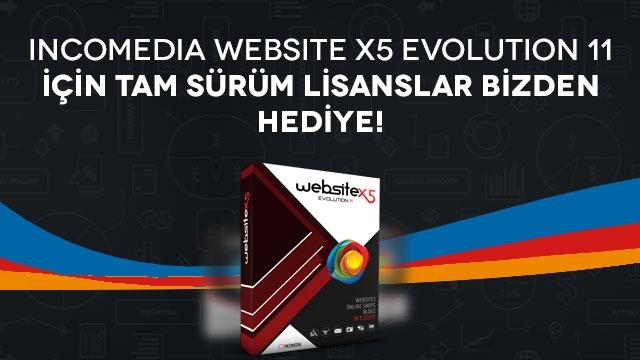 Incomedia Website X5 Evolution 11 Hediye Tam Sürüm Lisansınızı Kapın