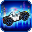 Police car racing for kids