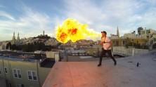 GoPro - Ateş Üfleyen İnsan Çekimi
