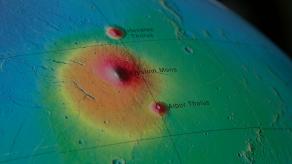 Mars'ta Aktif Volkan
