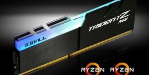 G.Skill AMD Ryzen İşlemcileriyle Uyumlu Trident Z RGB Belleklerini Tanıttı