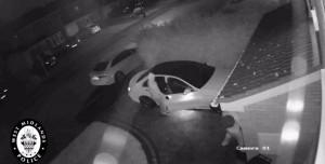Hırsızlar Mercedes'i 60 Saniyede Böyle Çaldılar!